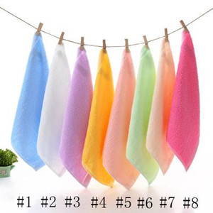 Baby Saliva Towel Bamboo Fiber Square Baby Towel Soft Absorbent Bamboo Small Square Towels Children's Baby Towel EEA1325