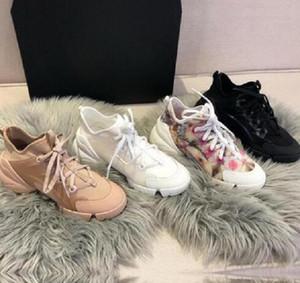 2020 Fashion Paris Sneaker Femme Sneaker Classic Lettres Noir Casual Chaussures Semelle Semelle Semelle Semelle Semelle Semelle Semelle Semelle Semelle de 5cm Fleur Triple S Casual Papa Chaussures avec boîte