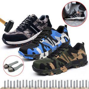 PUIMENTIUA nouveau travail Chaussures de sport Indestructible Ryder Chaussures Hommes et femmes Steel Toe Bottes de sécurité Air INCREVABLE Chaussures respirantes