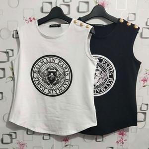 Balmain para mujer del estilista Camisetas moneda de la impresión camisas de las mujeres de alta calidad jersey mujer Tees Balmain ropa de las mujeres