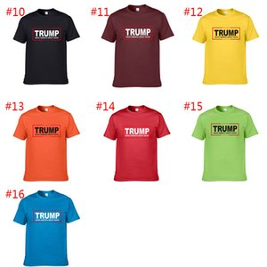 16 style MAKE AMERICA GREAT AGAIN Donald Trump T Shirt S-2XL Homme O-Neck Short Sleeve Shirts Trump Gifts A19386