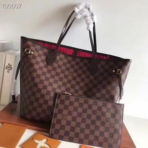 Neues Echtes Leder Canvas Handtasche Frau Tasche Mädchen-Taschen-UmhängetascheLVHandtasche Messenger Bag 40995-Kupplungs-Mappe