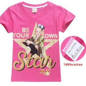 2018 neue Sommer Jojo Siwa Shirts Baby Mädchen T-shirts Kurzarm T-shirts Für Kinder Bobo Wählt T-shirt Kind Sport Kleidung 4-12y Y19051003