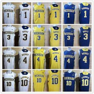 NCAA Michigan Wolverines 1 Robinson III 3 Trey Burke para hombre Chirs 4 Webber Tim Hardaway Jr. 10 de baloncesto de la universidad de New Big 10 Patch