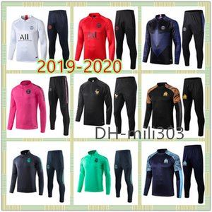 2019 2020 Real Madrid psg Jordan AIR marseille France  treino de futebol soccer tracksuit 19 20 paris saint germain football training jogging