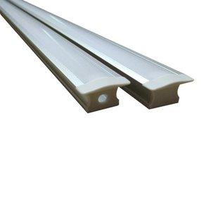 Perfil de aluminio en forma de T para rayas led canales de aluminio rasantes empotrados montaje empotrado