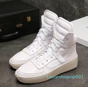 free shipping 2020 fear of god shoes Sneaker with Canvas Insets fog Boots platform Mens fashion leather shoes size 38-46 free shipping R01