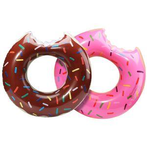 Wassersport Donut Pool Aufblasbare Floats Pool Spielzeug Schwimmen Float 90cm Floats Aufblasbare Donut-Schwimmen-Ring Sommer-Wasser-Spielzeug
