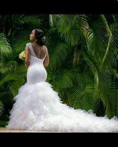 Factory direct new fishtail wedding dress high-end shoulder fishtail wedding dress