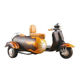 Presentes de aniversário brinquedo criativo Triciclo moto em miniatura Modelo retro Ornamentos de Metal Home Decor Ferro Motorcycle Crafts