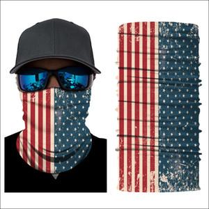 Balaclava Bandeira Bandana Capacete Pescoço Máscaras Faciais Para Moto Esportes Ao Ar Livre Da Motocicleta de Esqui EUA Bandeira Americana Patter Cachecol Novo Estilo