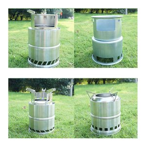 1 Pcs Camping Lightweight Stove Foldable Windproof Wood Burning Stove for Picnic BBQ Camping SEC88