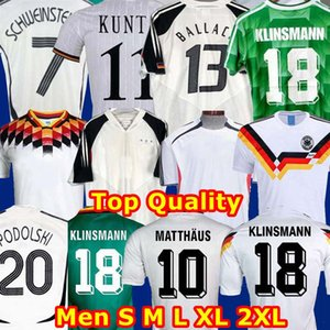 Top Thaïlande 1990 1994 1988 Allemagne Rétro Littbarski BALLACK Football Jersey 1996 KLINSMANN Matthias maison 2006 2004 Kalkbrenner JERSEY
