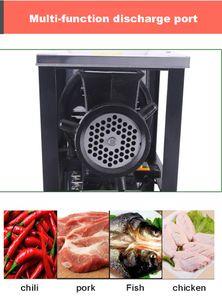 горячий 220V Коммерческая Мясорубки мясорубка для Овощной Mincer Мясо Slicer Рыба Grinder Колбаса машина