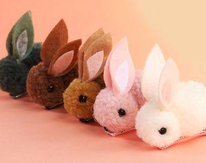 Nuevos niños linda conejo vendas headwraps Animales de las horquillas de felpa Rabbit Ears pinzas para el cabello accesorios para el cabello niñas