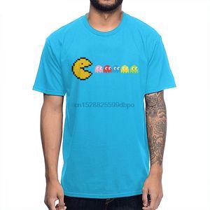 Printed Soft Slim For Men Pac-Man Tee Shirt Graphic Anime Tee Shirt S-5xl Big Size Streetwear Clothes Camisetas