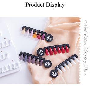 NA039 24 Conseils Nail Gel Polish couleur d'affichage graphique Salon acrylique Gel Affichage des ongles magnétiques Affichage couleur graphique Carte Shelf