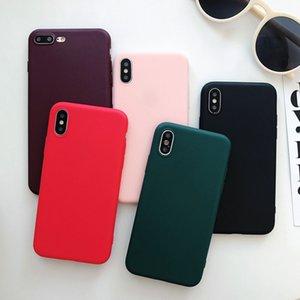 Süßigkeit-Farben-Fall für Huawei P30 P10 Lite Einfarbig Cover-Rückseite auf P20 Lite Pro Telefon Coque weiche Matte TPU Silikon-Shell-Haut