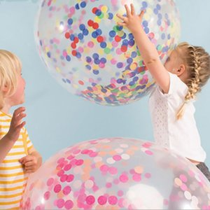 12 inch 5Pcs Set 2019 New Multicolor Latex Sequins Filled Clear Balloons Novelty Kids Toys Beautiful Birthday Party Wedding Decorations
