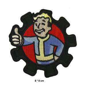 Letter embroidery patches hip hop badge for Jacket and coat 3 inch heat cut iron-on backing