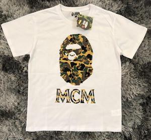 XXL de alta calidadmcm de lujo para hombre de la camiseta diseñadores de alta calidad de los hombres Mujeres Parejas Casual manga corta para hombre cuello redondo camisetas