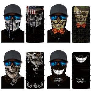 Too Many Styles Multi Function Skull Scarf Riding Variety Turban Hood Magic Headband Veil Head Scarves Mask Outdoors Fashion Accessories#308