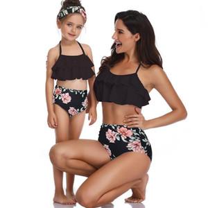 Bikinis 2018 Sexy Swimwear Women Swimsuit Push Up Brazilian Bikini Set Parent-child Summer Beach Bathing Suits female Biquini Beachwear