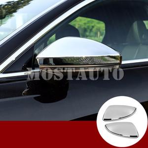 Pour Audi A7 S7 ABS Chrome Rearview Mirror Taille du châssis Couverture de 2019-2020 Argent / Noir