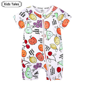 Summer Cute Baby Girls Boys Rompers Fruit Printed Outfits Sunsuit Newborn Baby Kids Clothes SR513