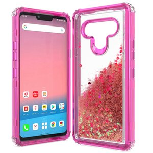 Bling Glitter Oil Liquid Defender Phone Case for iPhone 12 11 Pro Max XR XS Max 6 7 8 Plus SE 2020 Clear Transparent Combo Robot