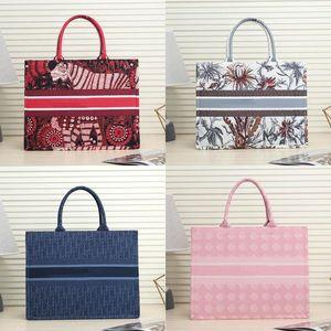 New fashion Colorful jacquard canvas handbag shopping bag canvas fabric Double handle design large shoulder strap Large capacity crossbCcY1#