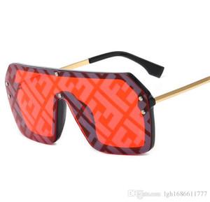 2020 새로운 F 대형 쉴드 바이저 선글라스 여성 큰 사이즈의 선글라스 남성 투명 프레임 빈티지 큰 방풍 레트로 안경