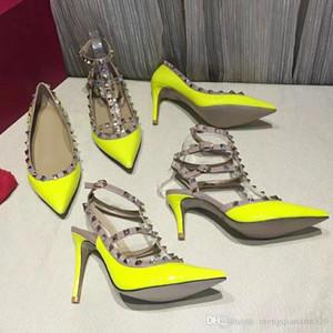Rivetto Moda sandali da donna di lusso in pelle di design Scarpe con tacco alto banchetto Sexy beach party Scarpe da sposa {Sandali con cinturino alla caviglia} 34-42