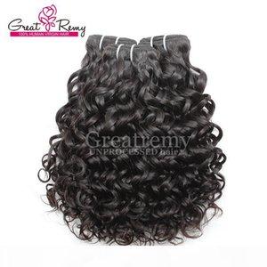 Greatremy? 8A Extension de cheveux brésilienne Vague Big Curly 100% Virgin humaine Bundle non transformé Hair du sort Dyeable Ocean Hair Weave Trame