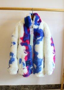 2019fw Inverno Tie-Dye Donne Uomini tosa il cappotto del rivestimento di Hiphop oversize Uomini Agnello caldo del rivestimento del cappotto dei capelli