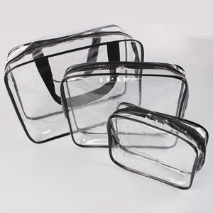 Transparent PVC Bags Travel Organizer Clear Makeup Bag Beautician Cosmetic Bag Beauty Case Toiletry Bag Make Up Pouch Wash Bags