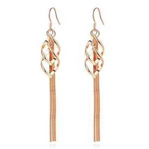 Newest Fashion Earrings IN Gold and Silver Color Trendy Tassel Earrings Accept Customer Designs Cheap Brass Jewelry