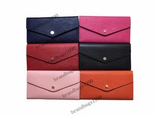 2020 Toptan Su Dalgalanma cüzdan uzun Cüzdan Ücretsiz Kargo toz torbası Box 60528 ile Moda debriyaj deri cüzdan Çanta cüzdanlar