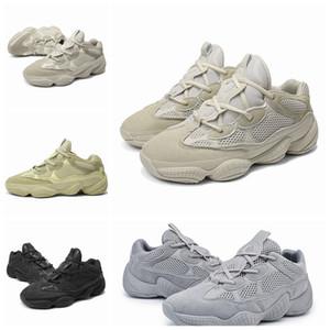 2019 New Salt 500 Kanye West Sapatos Casuais Homens Sapatos De Grife Super Lua Amarelo Blush Desert Rat 500 Sapatilhas Sapatilhas