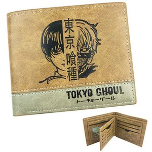 Kaneki Ken wallet Tokyo Ghoul face note purse Ghost anime short leather cash note case Money notecase Change burse bag Card holders