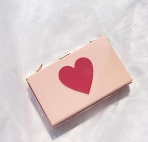 Designer Mulheres Flap Hangbag Luxo Lady Bolsa de Ombro Cadeia Moda corações brilhantes Sacos simples sacos de alta qualidade / 5