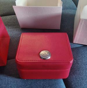 ميدان جديد الأحمر ووتش مربع على 007 بطاقة GMT كتيب الكلمات والخارجي ورقات في اللغة الإنجليزية الساعات الأصلي مربع الداخلية ساعة اليد للرجال صندوق