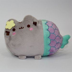 19*13cm Cute Cat Plush Toy Animal Smile Fat Cat Mini Mermaid Stuffed Plush Doll For Children Kids Birthday Best Gift