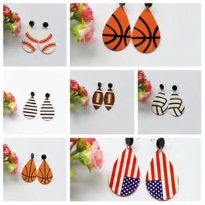 7style преувеличенные сферические серьги акриловые материал серьги футбол баскетбол серьги индивидуальные спортивные серьги женщины подарок T2C5141