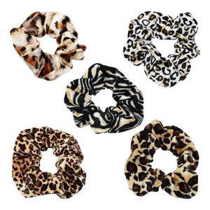 Laço de cabelo laço de cabelo Leopard Mulheres Cabelo Accesorios Ladies Striped Lady Scrunchies rabo de cavalo fêmea Titular Rope