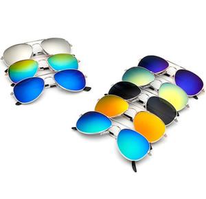 Occhiali da sole per bambini caldi colorati 3025 occhiali da sole aviator per bambini specchietti retrovisori colorati per bambini specchiati colore WCW339