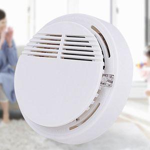 DHL rivelatore di fumo allarmi di sistema del sensore di allarme incendio Rivelatori indipendente senza fili di sicurezza ad alta sensibilità Stabile LED 85DB batteria 9V