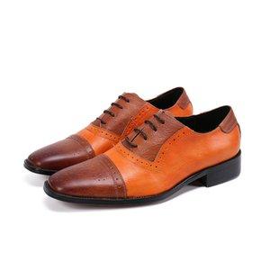 Batzuzhi Robe en cuir formel pour Hommes Classique Chaussures richelieu en cuir d'affaires Handsome Men Chaussures Hommes, Grandes Tailles