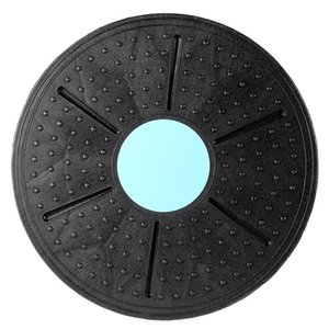 360 Degree Fitness Balance Board Rotatable Massage Disc Round Plates Board Gym Waist Twisting Exerciser 160kg Random Color