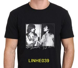 George Harrison and Bob Marley Rare Footage Men T-Shirt Size S-to-3XL T Shirt O-Neck Fashion Casual High Quality Print T Shirt